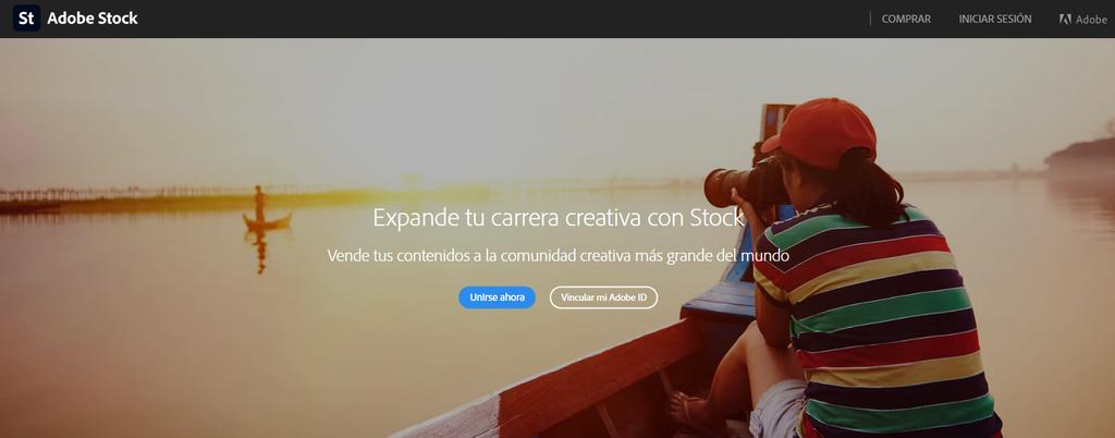 Sitio para vender fotos Adobe Stock