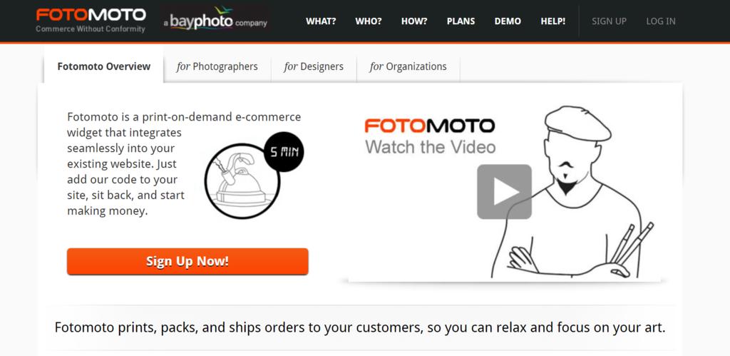 Sitio web de FotoMoto