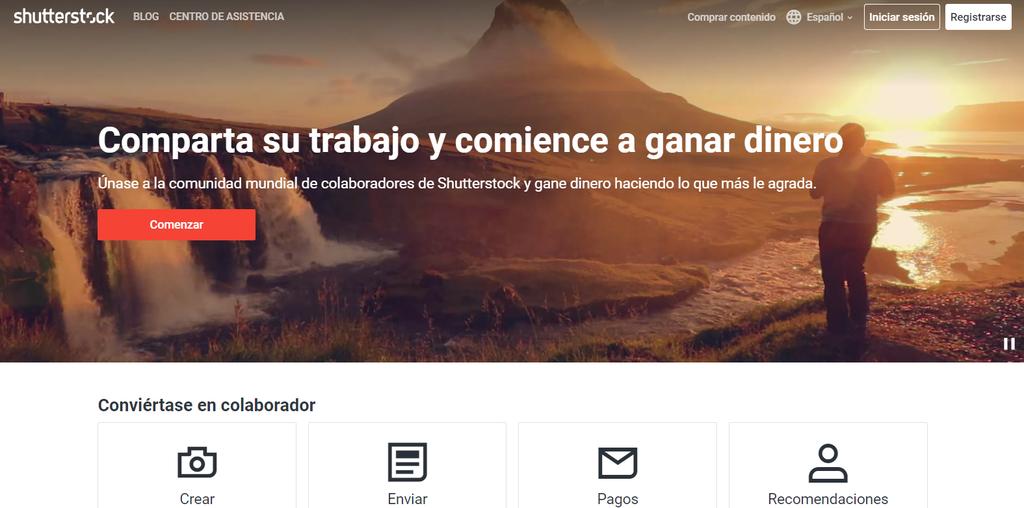 Sitio de Shutterstock