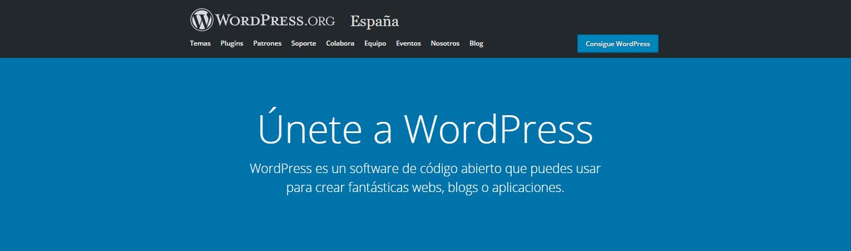 Página de WordPress.org
