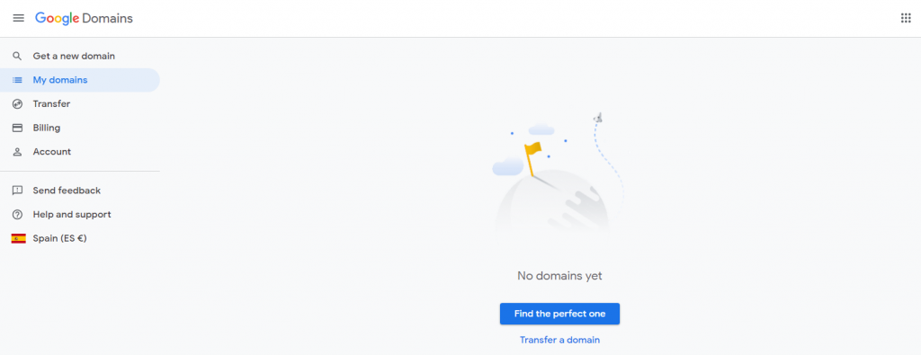 Panel de control de Google Domains
